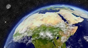 North Africa on planet Earth Stock Photos