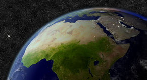 North Africa from space Stock Photography