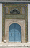 North African architecture - blue doors Stock Photography