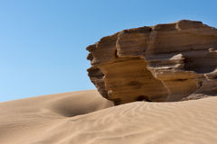 North African sand dunes Stock Images