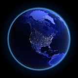 North America. Maps from NASA imagery Stock Photography