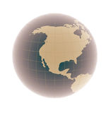 North america on 3d globe Royalty Free Stock Photo