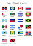 North America. The Flags of North America Royalty Free Stock Images