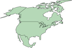 North America. Map Stock Images
