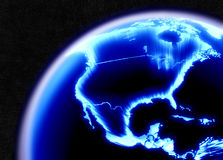 North America. High rez render of North America from Space Royalty Free Stock Photo