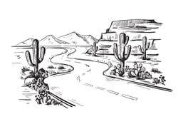 North America Arizona. Desert North America Arizona. Hand drawn vector vector illustration