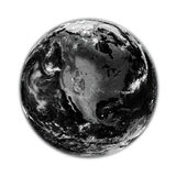 North America on black Earth Stock Photography