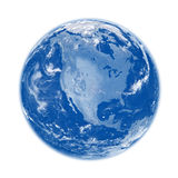 North America on blue Earth Stock Photos