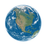 North America on blue Earth Royalty Free Stock Photography