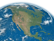 North America on blue Earth Stock Image