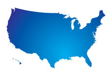 North america blue map Royalty Free Stock Images