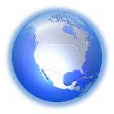 North America on bright metallic Earth Royalty Free Stock Photo