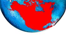 North America on 3D Earth royalty free stock photography