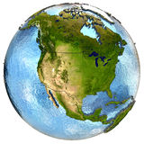 North America on Earth Stock Photos
