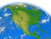 North America on Earth Stock Photos
