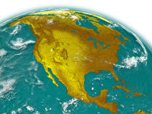 North America on Earth Royalty Free Stock Photography