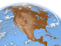 North America on Earth Stock Image