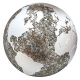 North America and Europe on translucent Earth Stock Photo
