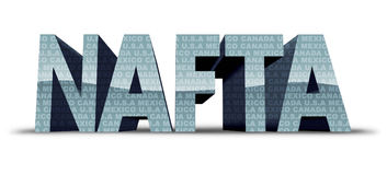 North America Free Trade Stock Photography
