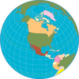 North america Globe. Royalty Free Stock Photos