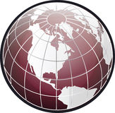 North america globe Stock Photo