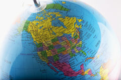 North America on globe Royalty Free Stock Image