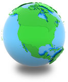 North America on the globe Royalty Free Stock Photography