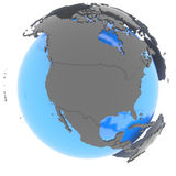 North America on the globe Stock Photo