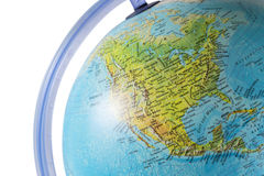 North America on a globe. With white background royalty free stock photography