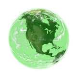 North America on green Earth Stock Images