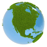 North America on green planet Royalty Free Stock Photo