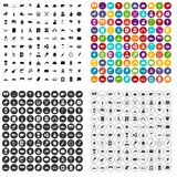 100 North America icons set vector variant. 100 North America icons set vector in 4 variant for any web design isolated on white Stock Image
