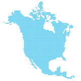 North America made of dots Stock Photography