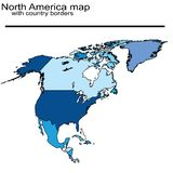 North America map Stock Photography