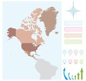 North America map Royalty Free Stock Photos