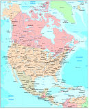 North America map Stock Photos