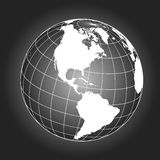 North America map in black and white Royalty Free Stock Photos