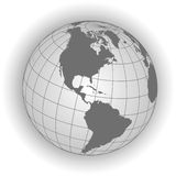 North America map in gray tones Royalty Free Stock Image
