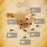 North america map, infographic design illustration Royalty Free Stock Photo