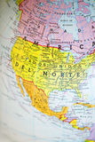 North America Map. Macro lens Stock Image