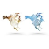 North america map template, triangle design vector Royalty Free Stock Image