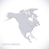 North America Map. Vector illustration Stock Images