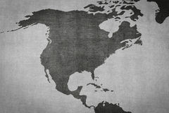 North america map on vintage background - old texture Royalty Free Stock Images