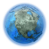 North America on marble planet Earth Stock Photography