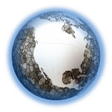 North America on metallic Earth Stock Photography