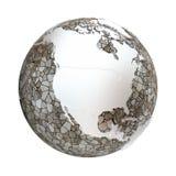 North America on metallic Earth Royalty Free Stock Photos