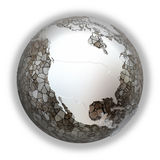 North America on metallic Earth Royalty Free Stock Photography