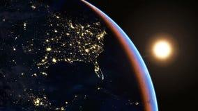 North America at night stock video
