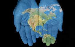 North America In Our Hands Stock Image