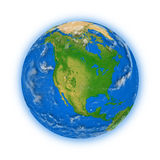 North America on planet Earth Stock Photography